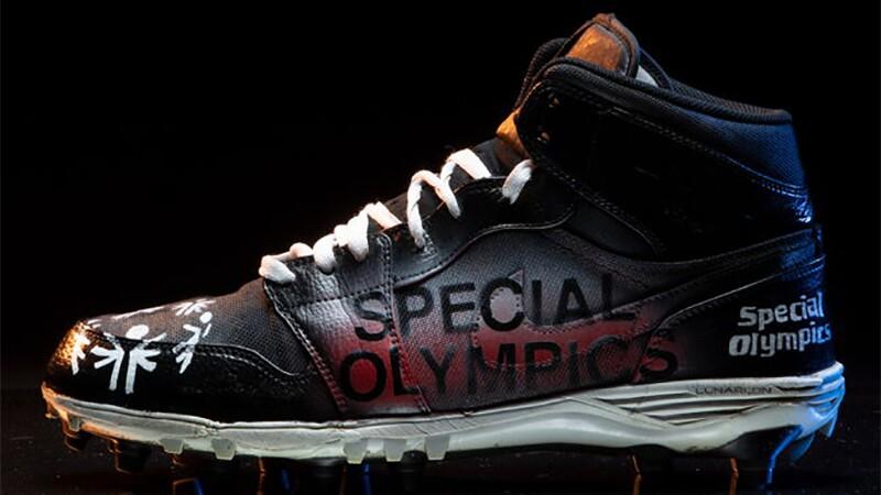 Denver Broncos' Austin Schlottman Special Olympic Cleats