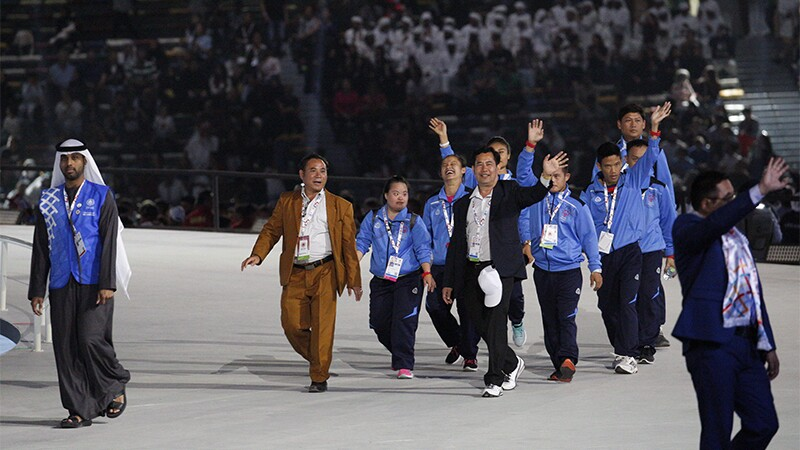 Special Olympics Laos delegation at 2019 Summer Games Opening Ceremony.