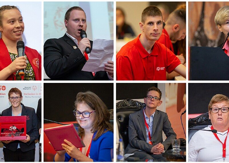 The athlete leaders and youth leader who contributed to the Special Olympics Europe Eurasia Leadership Conference 2018