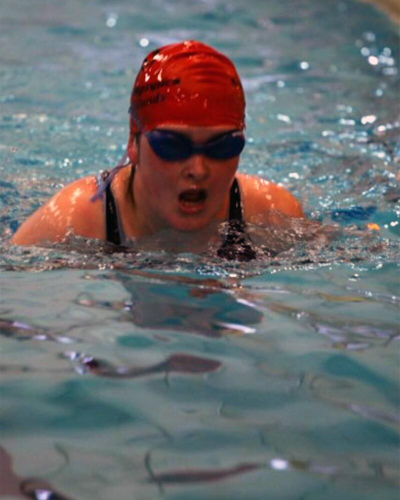 Katie Swimming.