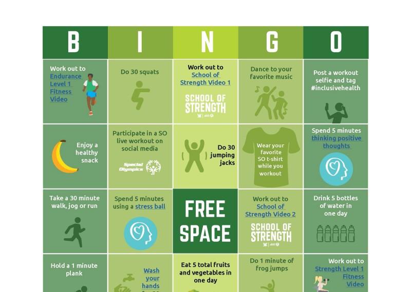 Image of bingo card.