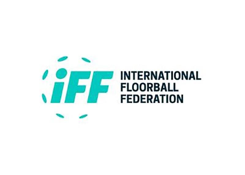 Green and black International Floorball Federation logo.