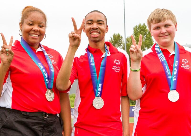 Three athletes at USA Games