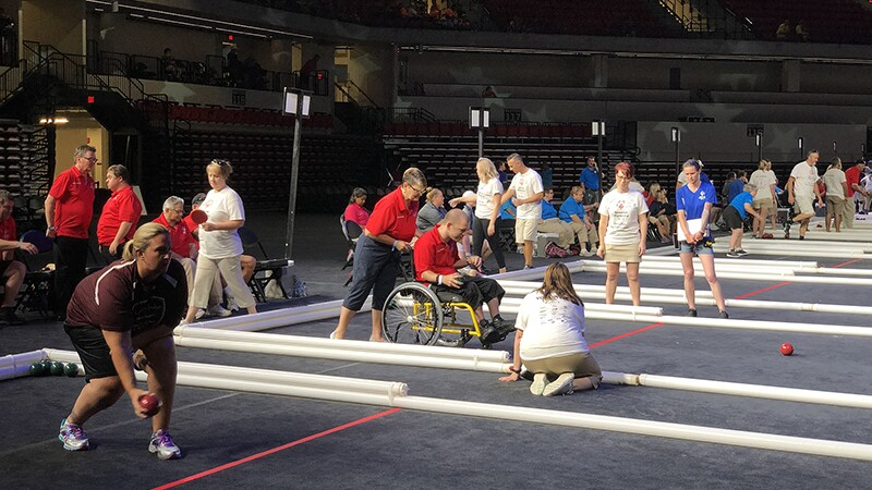 Bocce innovation centre court at Special Olympics Florida State Summer Games.jpg