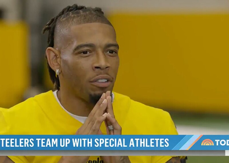 Joe Haden speaking while being interviewed on Today show.