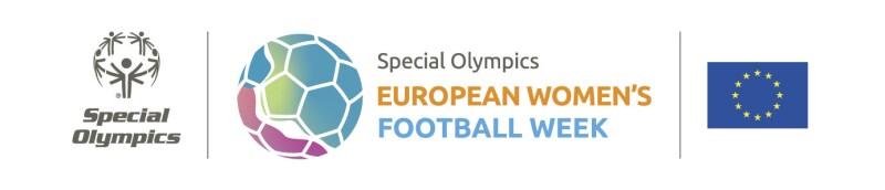 Three logos arranged horizontally: Special Olympics, European Women's Football Week and the European Union.