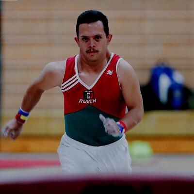 Male Gymnast, Ruben, Running toward the vault