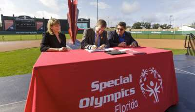 Representatives from Special Olympics Florida