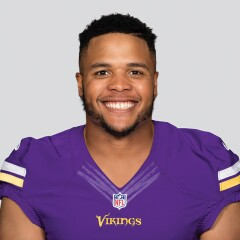 Eddie Yarbrough in his Minnesota Vikings uniform.