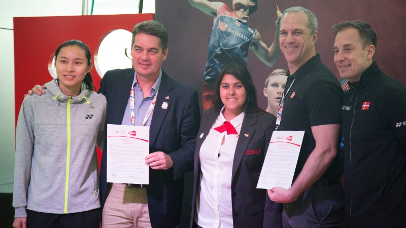 Emanuelle de Souza at the Badminton World Federation partnership launch