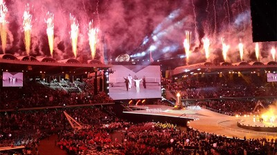 World Games opened with a full venue, fireworks and a musical performance onstage.