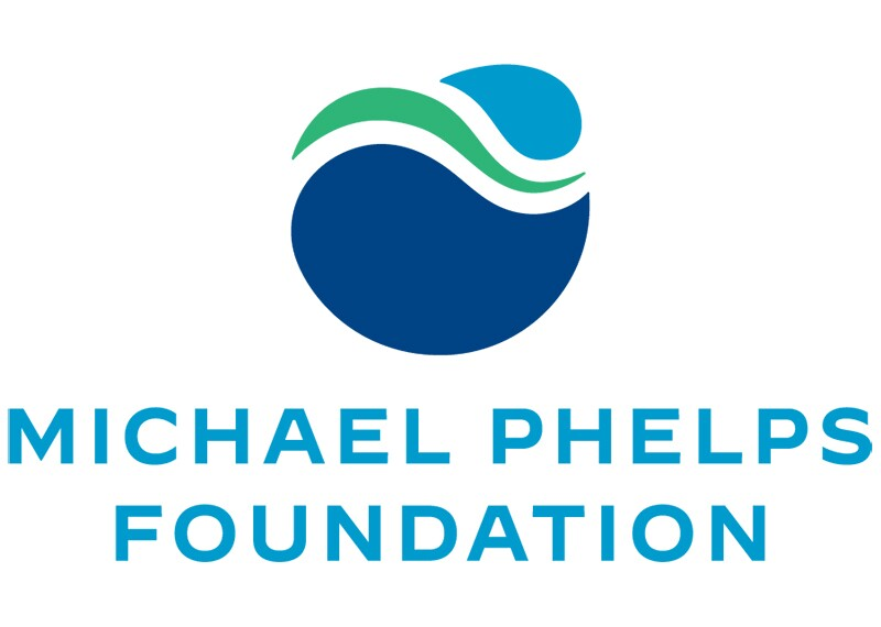Blue and green Michael Phelps Foundation logo