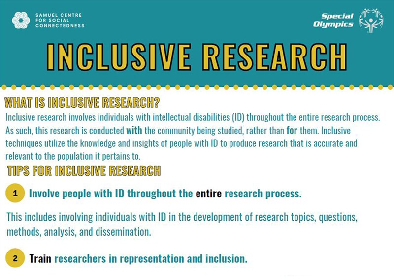 image of the Tips for Inclusive Research document