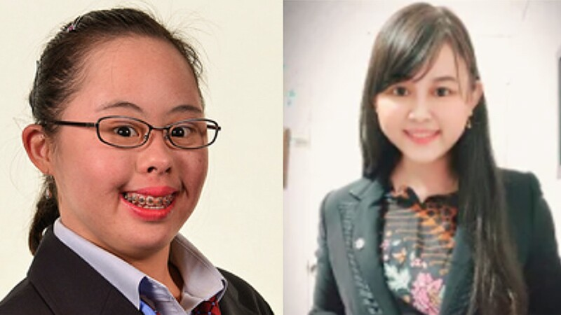 Headshots of two women, both wearing blazers, smiling at the camera.
