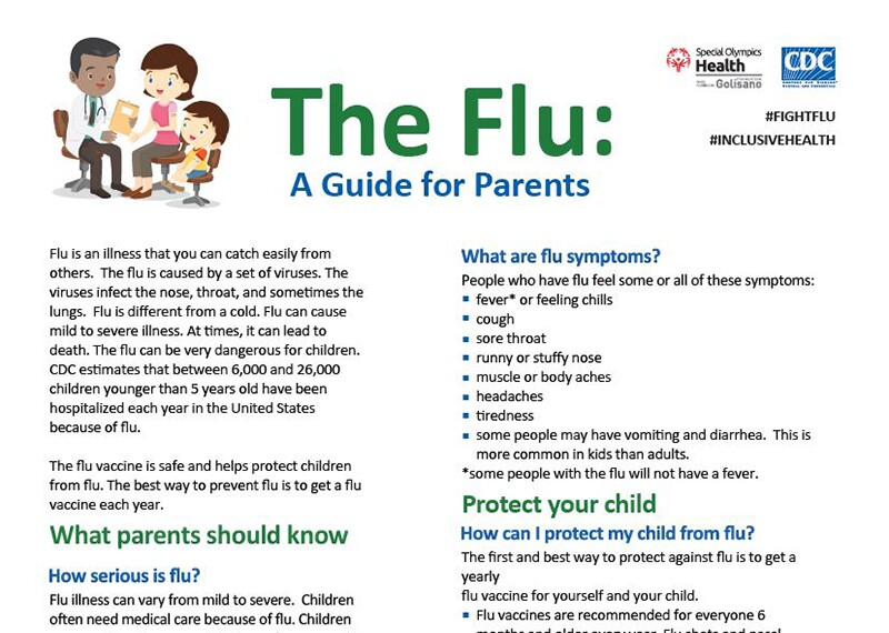 Image of The Flu: A Parents Guide document.