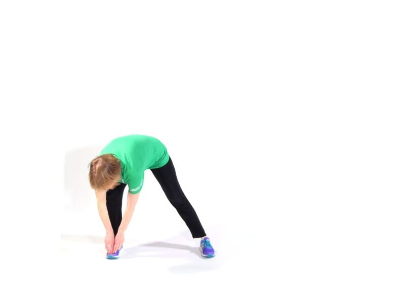 Athlete demonstrating Lateral Lunges.