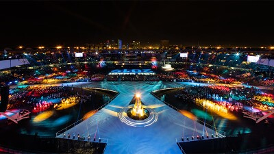 Ariel photo of the Closing Ceremony at the 2019 World Games in Abu Dhabi.jpg