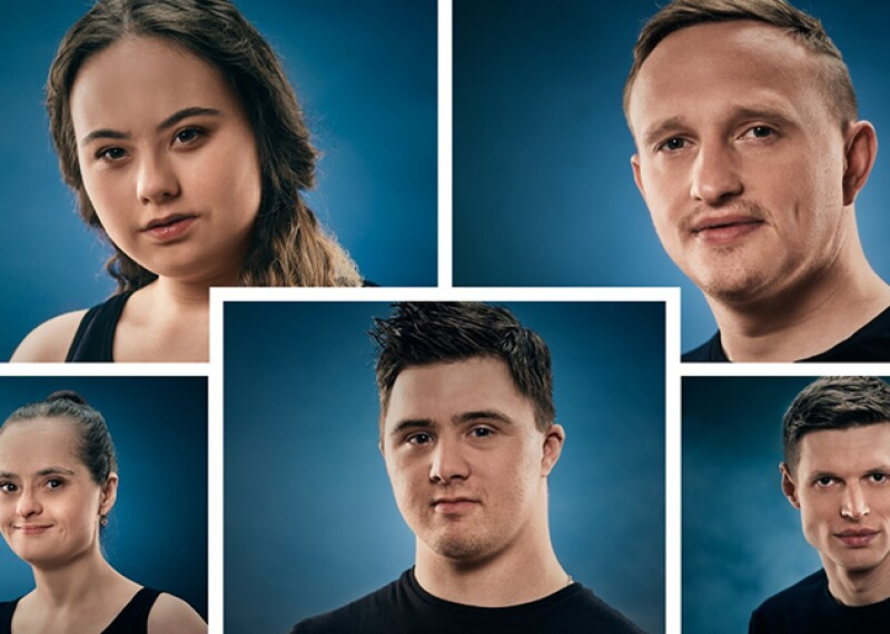 Special Olympics Slovakia athletes Peter Išpold, Gizela Billíková, Filip Graňo, Vanda Kračunová and Michal Štubňa are the faces of the 'We Are Here Among You' campaign.