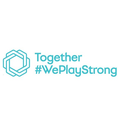 together we play strong logo.