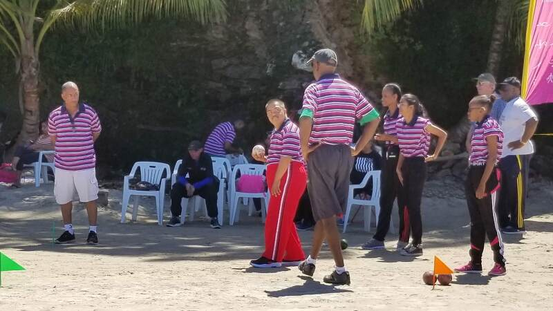 Unified bocce partner, Kevin, says playing on sand is preparing his team to compete at the 2019 World Games 2019 in Abu Dhabi and Dubai because it will help them play well on any type of surface.