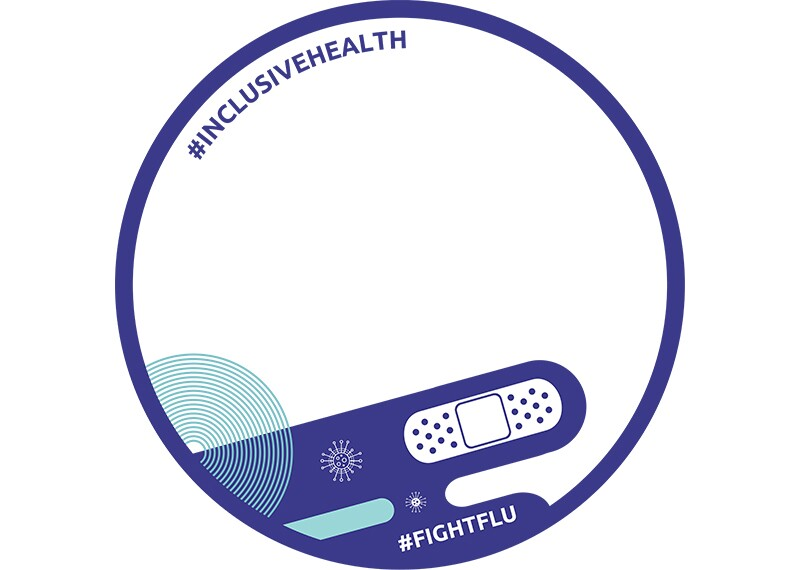 Facebook frame #InclusiveHealth #FightFlu number 2.