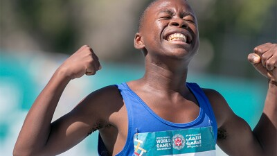 World Games 2019, Track and Field - young man celebrating.