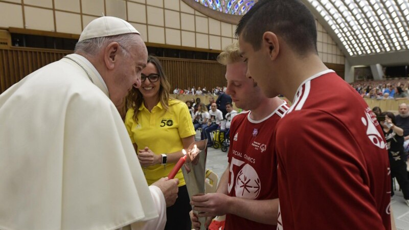 Pope Francis commemorates 50 years of Special Olympics.jpg