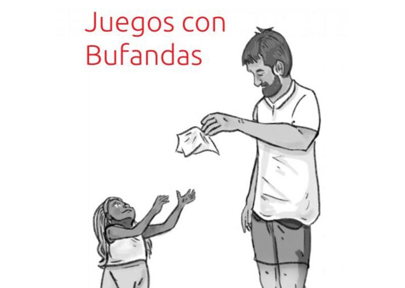 Illustration of a man handing a girl a tissue.