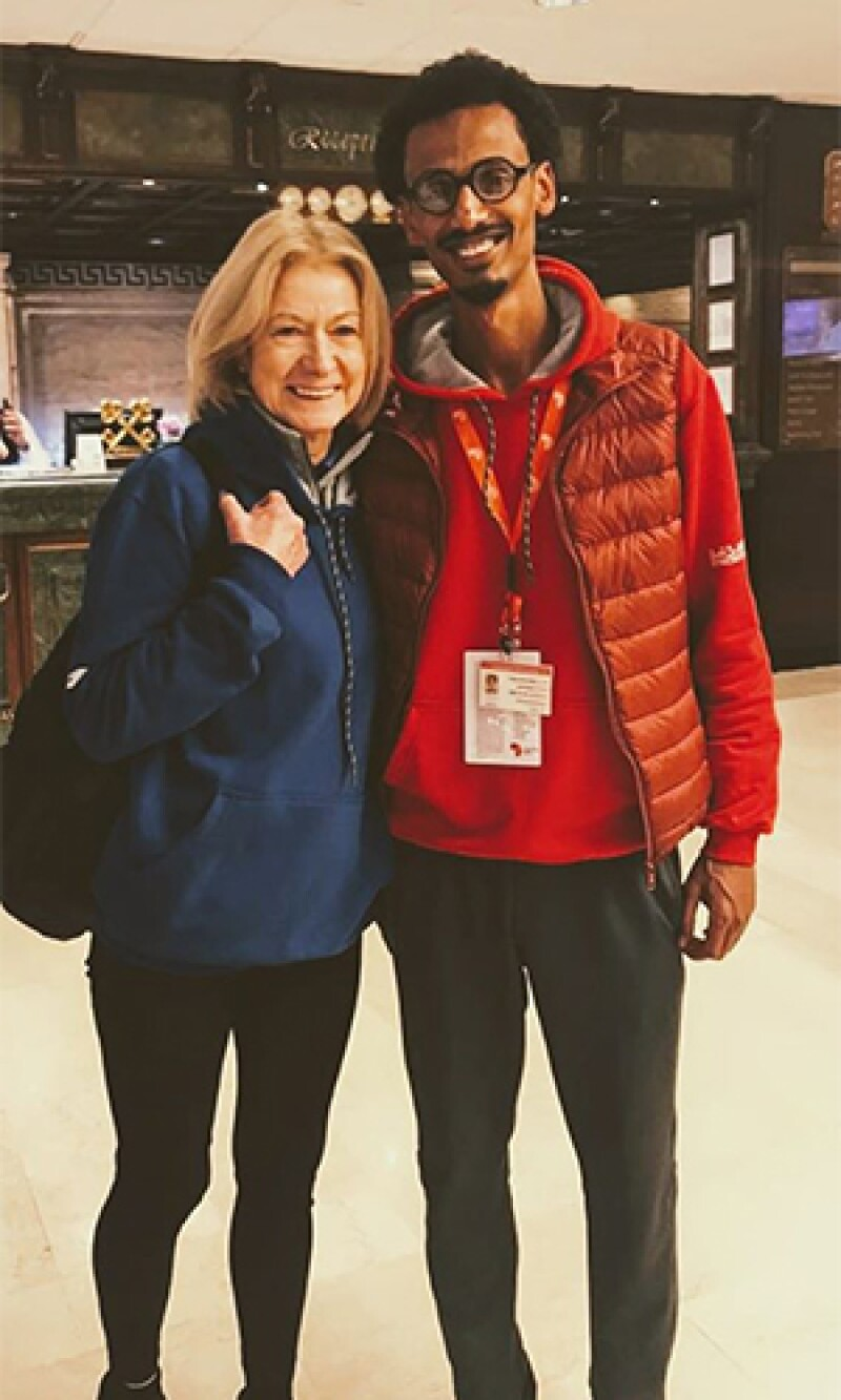 Youssef and Mary Davis standing side by side for a photo.