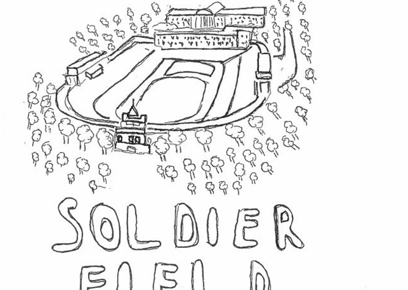 Illustration of soldier field