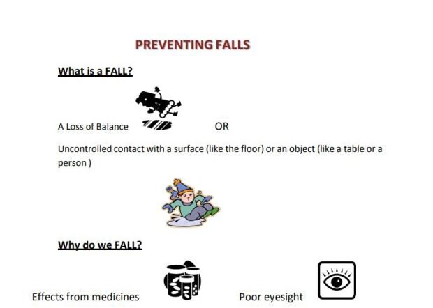 illustartaion about fall prevention.