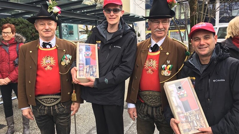 Francis Mauro, Special Olympics Gibraltar runner, with Law Enforcement Torch Run Gibraltar Representative Joseph Gilbert, enjoy cultural day out at Special Olympics World Winter Games Austria 2017.