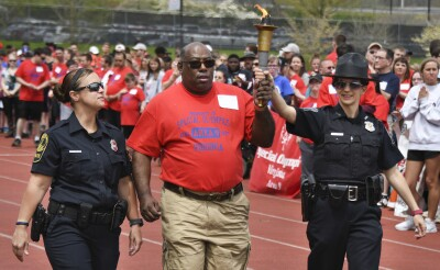 Track and Field Athlete with Law Enforcement