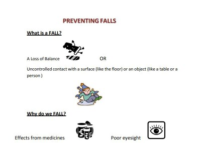 illustartaion about fall prevention.