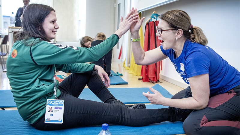 Healthy Athletes during the Special Olympics Sweden Invitational Games in Ostersund on February 03, 2020