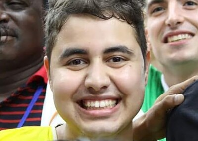 Raftik smiling for a selfie