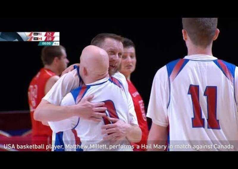 You Will Never Believe This Hail Mary Basketball Shot! USA's Matthew Millett scores from OWN HALF!