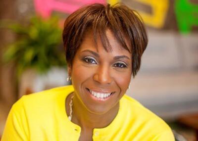 Carmen Daniels Jones smiling.