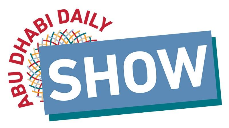 Abu Dhabi Daily Show logo in World Games Abu Dhabi 2019 graphics.