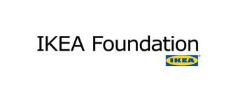 Ikea Foundation logo with the Ikea store logo.
