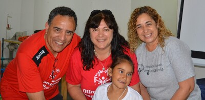 Ana Aloe (centro), Directora de Programas Innovadores, Olimpiadas Especiales Argentina.