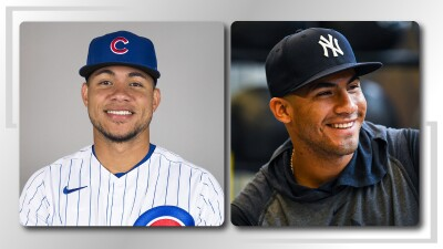 Two image side by side, one of Gleyber and the other of Willson.