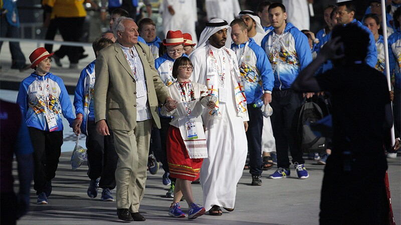 Special Olympics Ukraine delegation at Opening Ceremony