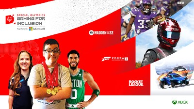 Special Olympics Gaming for Inclusion together with Microsoft lead artwork.