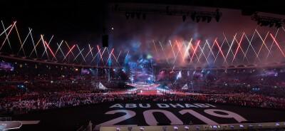 Stadium view from Abu Dhabi 2019 world games closing ceremony