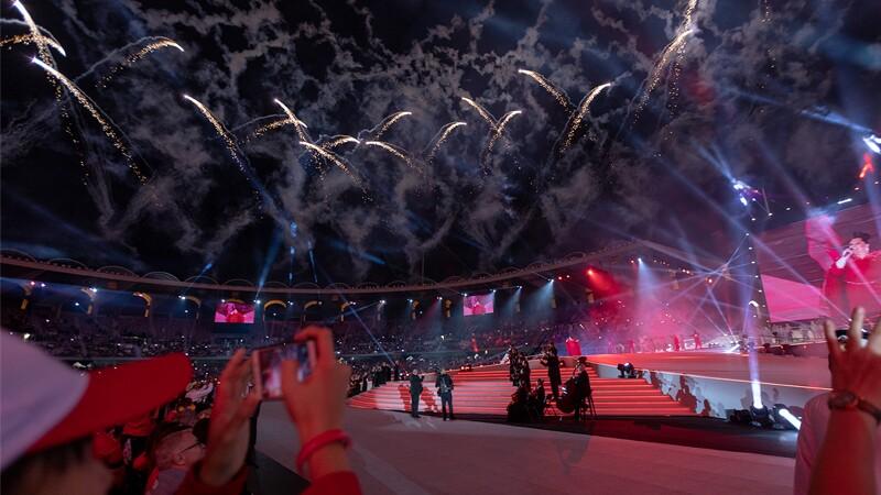 World Games Abu Dhabi 2019 closing ceremony with fireworks.