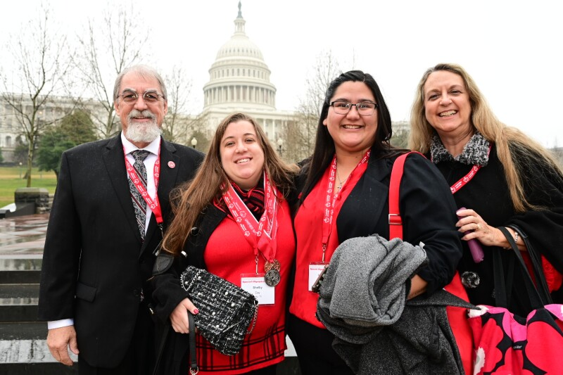 Delegates from Special Olympics Texas pose prior to their meetings in Washington, DC during 18th annual Capitol Hill Day.