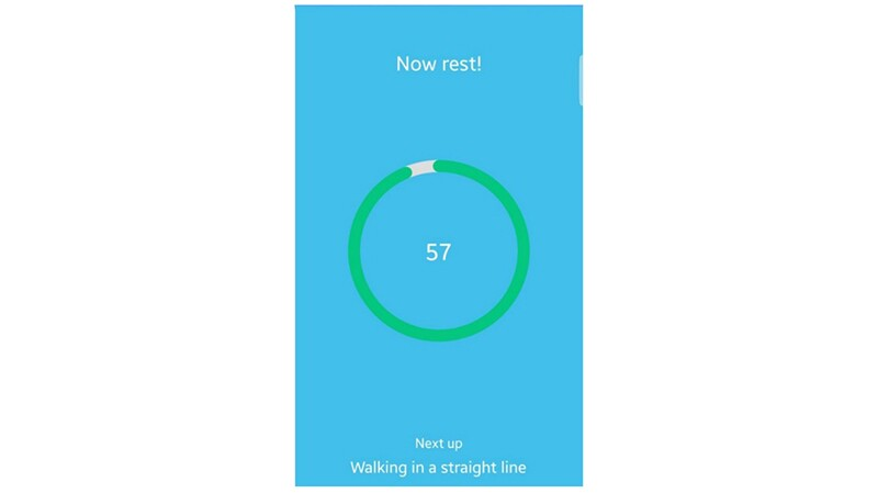 The picture shows a screenshot of a progress bar that shows the user how much rest time has elapsed.