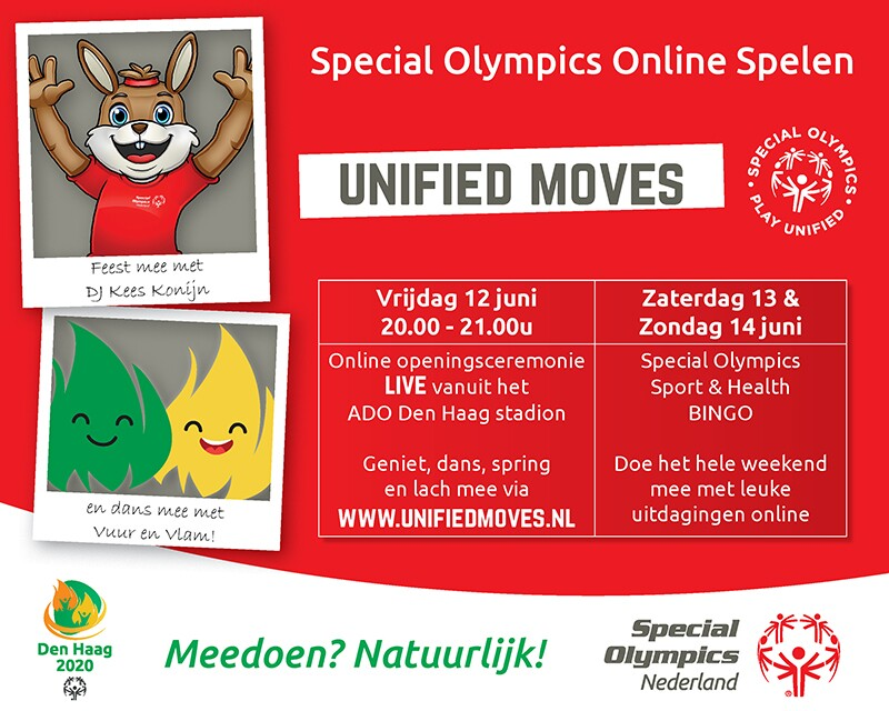 Special Olympics Netherlands Online Games programme.