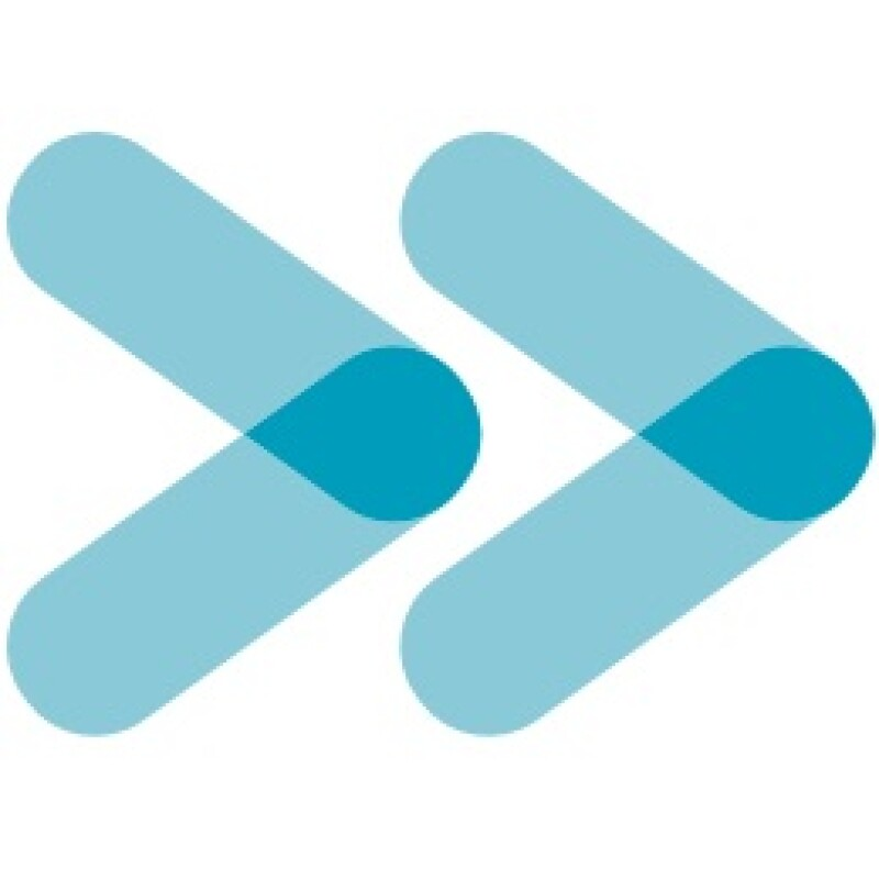 New Spread the Word Logo two blue chevrons interlocking as a symbol of people coming together